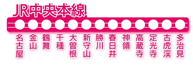 JR中央本線 - 出張可能エリア