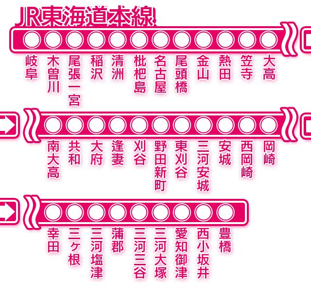 JR東海道本線 - 出張可能エリア